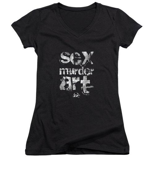 Sex Murder Art Women's V-Neck