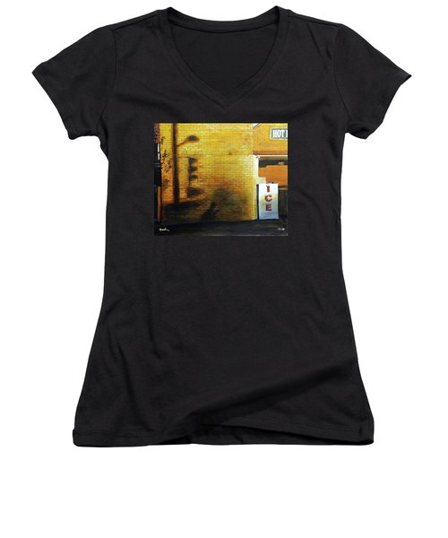 Shadows On The Wall Women's V-Neck