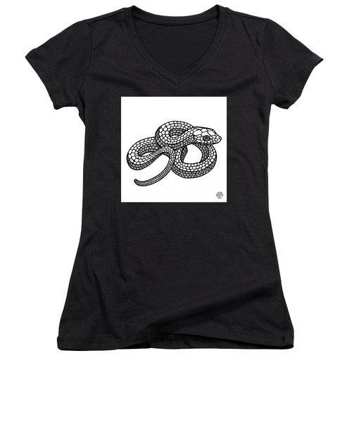 Smooth Green Snake Women's V-Neck