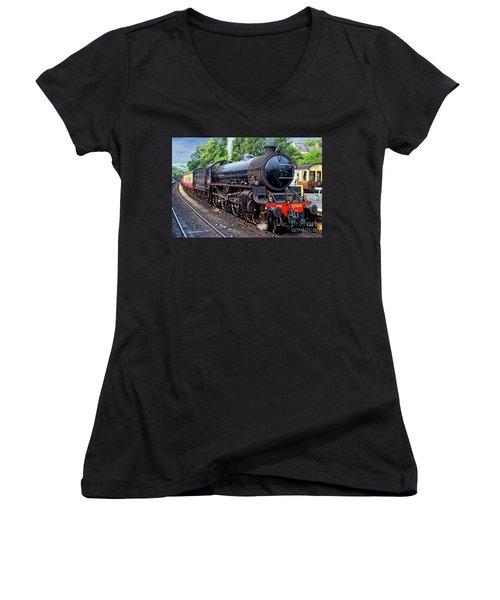 Steam Locomotive 1264 Nymr Women's V-Neck