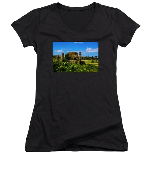 Stone Oven Women's V-Neck (Athletic Fit)