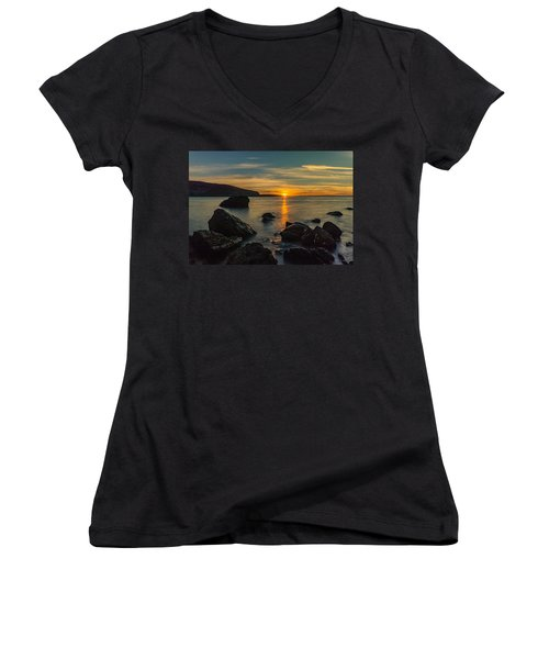 Sunset In Balandra Women's V-Neck