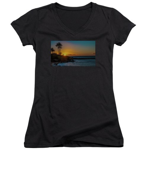 Sunset On Kapalua Women's V-Neck