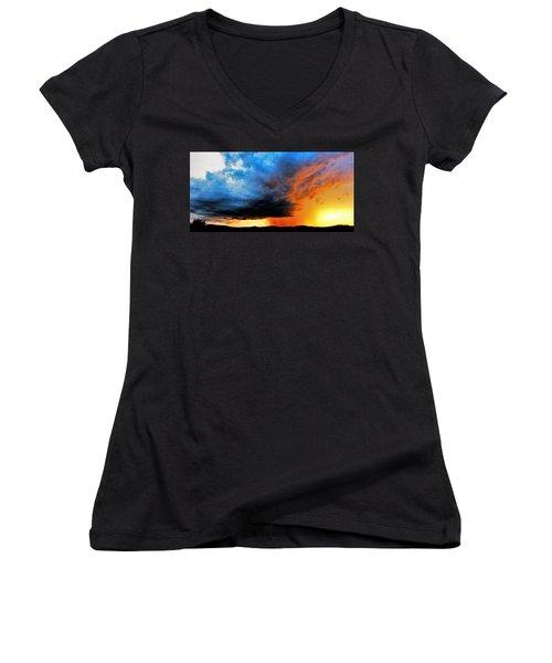 Sunset Storm Women's V-Neck