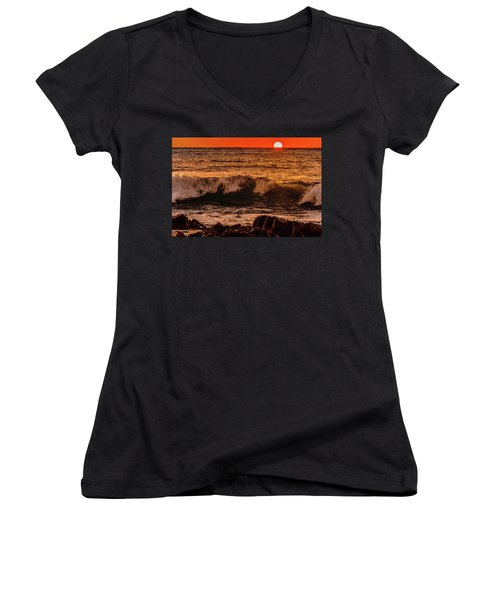 Sunset Wave Women's V-Neck