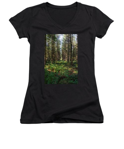 Tall Trees In Sherwood Forest Women's V-Neck (Athletic Fit)