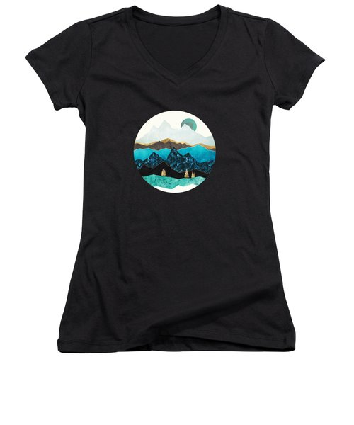 Teal Afternoon Women's V-Neck (Athletic Fit)