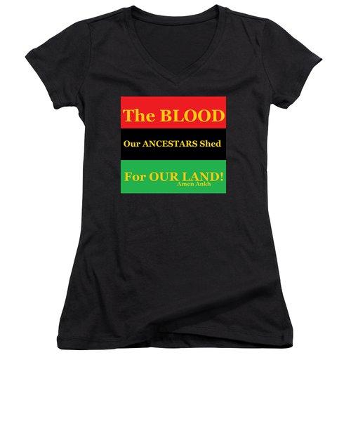 The Blood Women's V-Neck