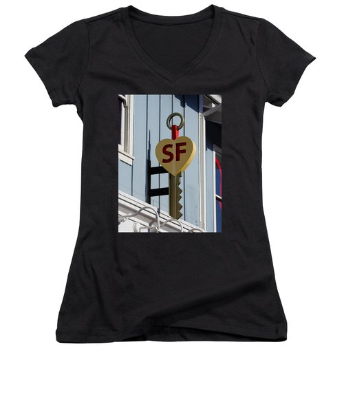 The Key To San Francisco Women's V-Neck