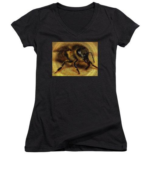 The Killer Bee Women's V-Neck (Athletic Fit)