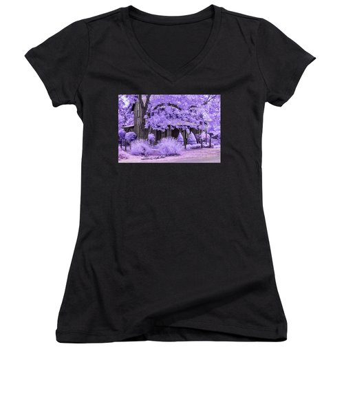Women's V-Neck (Athletic Fit) featuring the photograph Third And D by Dan McGeorge