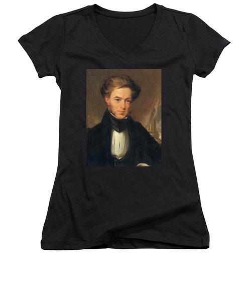 Portrait Of Thomas Ustick Walter, 1835 Women's V-Neck