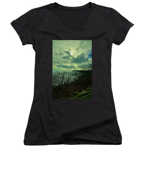 Thunder Mountain Clouds Women's V-Neck