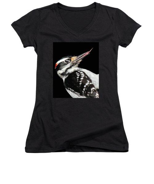 Tongue Of Woodpecker Women's V-Neck