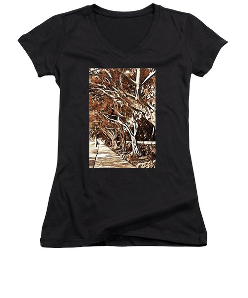 Treelined Women's V-Neck