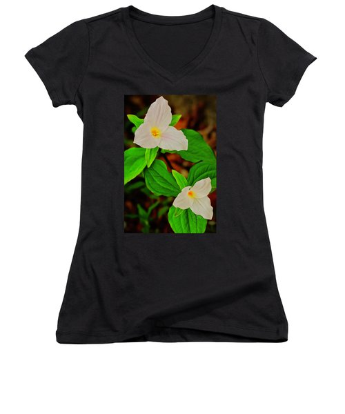 Trilliums Women's V-Neck