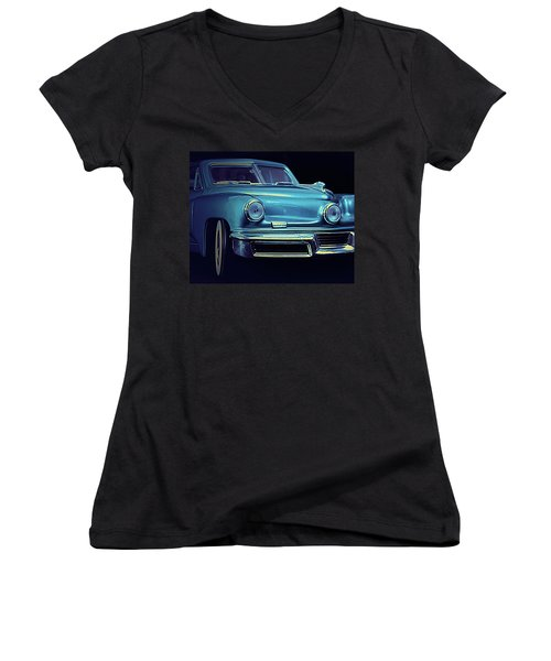 Tucker In Blue Women's V-Neck