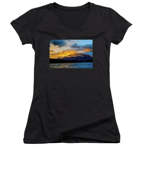 Two Jack Lake, Banff National Park, Alberta, Canada Women's V-Neck