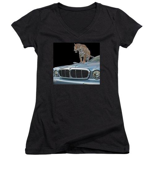Two Jaguars 1 Women's V-Neck