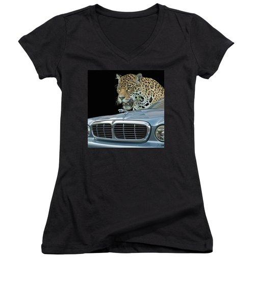 Two Jaguars 2 Women's V-Neck