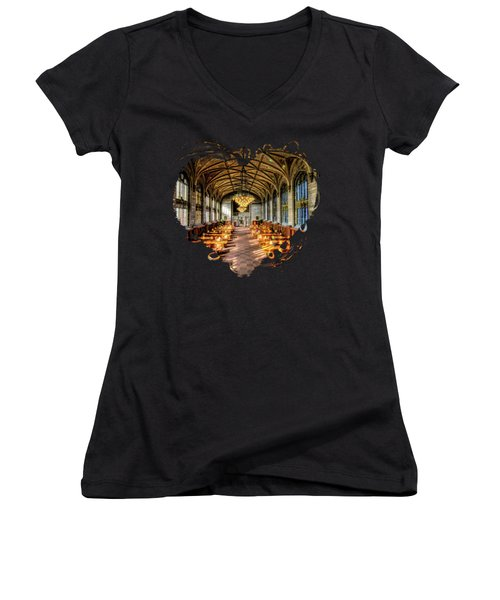 University Of Chicago Harper Library Women's V-Neck