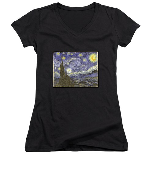 Van Goh Starry Night Women's V-Neck