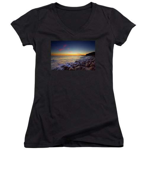 Ventura Sunset Women's V-Neck (Athletic Fit)