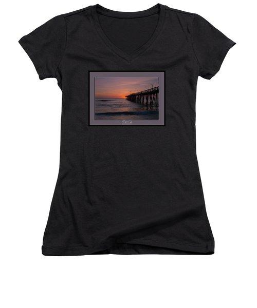 Virginia Beach Sunrise Women's V-Neck