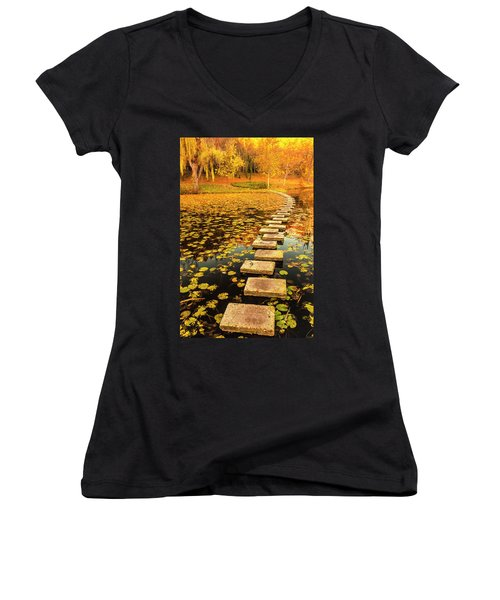 Way In The Lake Women's V-Neck