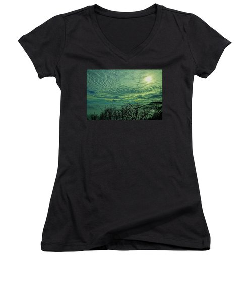 Winter Clouds Women's V-Neck