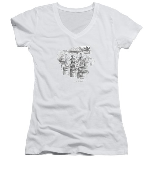 . . . And Don't Nibble! Women's V-Neck T-Shirt (Junior Cut) by Alan Dunn