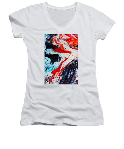 Abstract Original Artwork One Hundred Phoenixes Untitled Number Fifteen Women's V-Neck