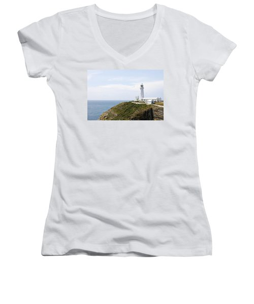 Lighthouse Landscape Women's V-Neck (Athletic Fit)