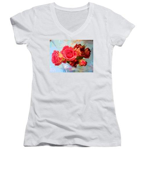 Roses 4 Lovers  Women's V-Neck T-Shirt