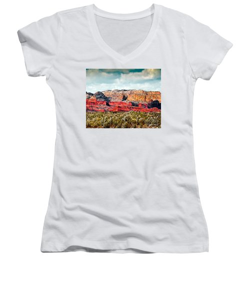 Secret Mountain Wilderness Sedona Arizona Women's V-Neck