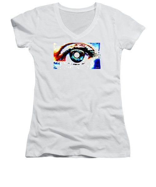 Travelling View  Through 26 Spacetime Dimensions In The Bosonic String Women's V-Neck T-Shirt
