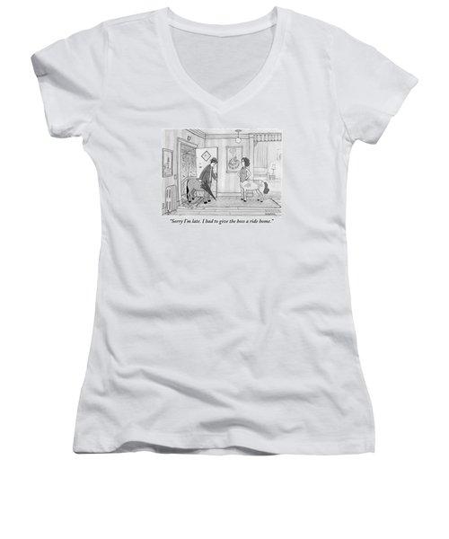 A Male Centaur Women's V-Neck T-Shirt