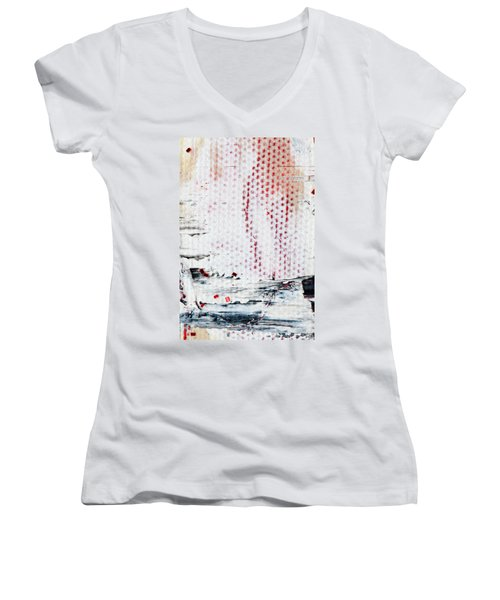 Abstract Original Artwork One Hundred Phoenixes Untitled Number Ten Women's V-Neck