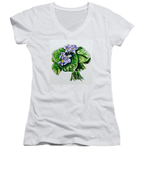 African Violet Women's V-Neck T-Shirt