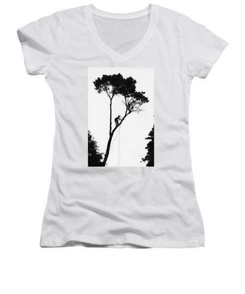 Arborist At Work Women's V-Neck (Athletic Fit)