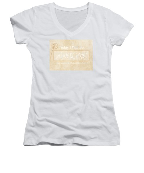 Awesome After Coffee Women's V-Neck (Athletic Fit)