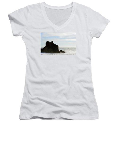 Beach Beauty  Women's V-Neck T-Shirt