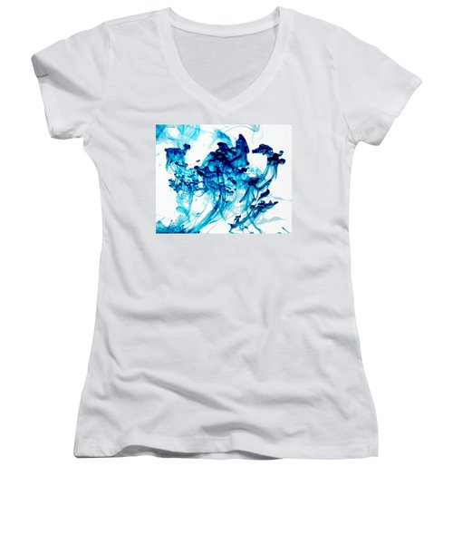 Blue Chaos Women's V-Neck (Athletic Fit)