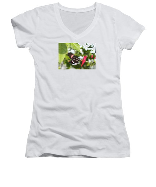 Caterpiller To A Butterfly Women's V-Neck T-Shirt
