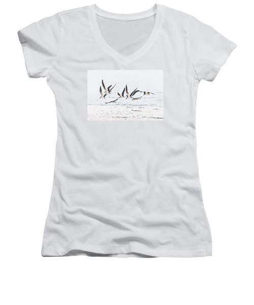 Coastal Skimmers Women's V-Neck (Athletic Fit)