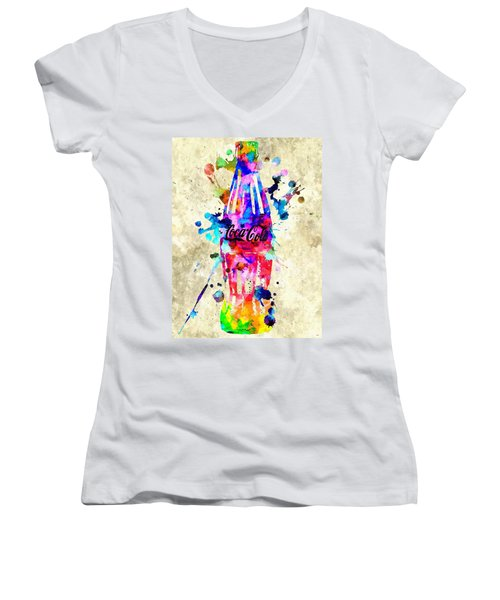 Coca-cola Women's V-Neck T-Shirt (Junior Cut)