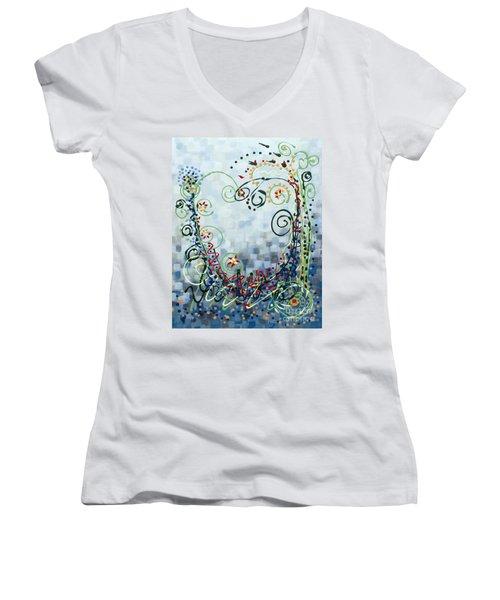 Crazy Love Jazz Women's V-Neck T-Shirt (Junior Cut) by Holly Carmichael