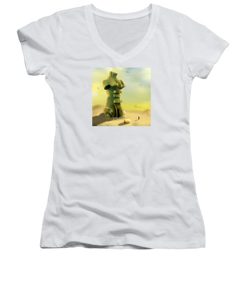 Drawers Women's V-Neck T-Shirt