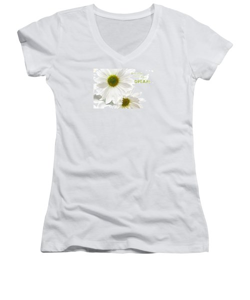 Dreams With Message Women's V-Neck