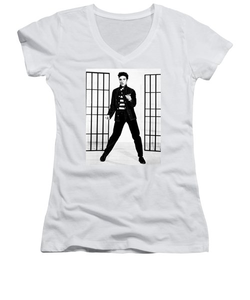 Elvis Presley Women's V-Neck T-Shirt